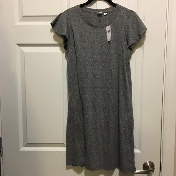 ee9b163c847 GAP Flutter Sleeve T-shirt Dress